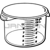 "Rubbermaid 5726-24 Round Storage Container - 13.13"" Dia. x 8.13"" H - 12 qt. capacity - Clear"