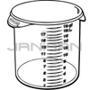 "Rubbermaid 5727-24 Round Storage Container - 13.13"" Dia. x 11.88"" H - 18 qt. capacity - Clear"