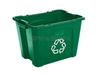 "Rubbermaid 5714-73 14 Gallon Recycling Box - 20.75"" L x 16\"" W x 14.75\"" H - Blue or Green in Color"