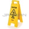 "Rubbermaid 6112-77 Floor Sign with ""Caution Wet Floor"" Imprint, 2-Sided"