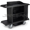 Rubbermaid 6189 Full Size Housekeeping Cart with Vinyl Bag, Bumpers, Vacuum Holder and Under Deck Shelf