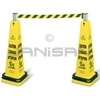 Rubbermaid 6287 Cone Barricade System Consists of: 6276, (1) Belt Cassette and (1) Double Weight Ring