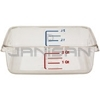 "Rubbermaid 6302 Space Saving Square Container - 8.75"" L x 8.8"" W x 2.69"" H - 2 Qt. Capacity - Clear"