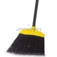 "Rubbermaid 6389 Jumbo Smooth Sweep Angle Broom, 1"" dia Black Metal Handle, Polypropylene Fill"