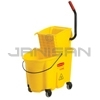 Rubbermaid 7580-88 WaveBrake® Mop Bucket & Side Press Wringer Combo