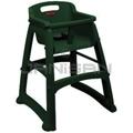 "Rubbermaid 7814-88 Sturdy Chair™ Youth Seat without Wheels Ready-to-Assemble - 23.5"" L x 23.5"" W x 29.75"" H - Dark Green in Color"