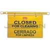 "Rubbermaid 9S16 Site Safety Hanging Sign with Multi-Lingual ""Closed for Cleaning"" Imprint"