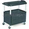 "Rubbermaid 9T29 Audio-Visual Cart, 3 Shelves with Cabinet, 3"" dia Casters - 32.5"" L x 18.63"" W x 32.13"" H - 150 lb capacity - 24"" Max TV Size"