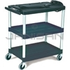 "Rubbermaid 9T28 Audio-Visual Cart, Open Cart with 3 Shelves, 3"" dia Casters - 32.5"" L x 18.63"" W x 32.13"" H - 150 lb capacity - 24"" Max TV Size"