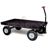 "Rubbermaid 9T07 Heavy-Duty Platform Convertible Wagon with 12"" Pneumatic Wheels - 70"" L x 40"" W - 2000 lb. capacity"