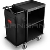"Rubbermaid 9T60 Compact Metal Housekeeping Cart - 49"" L x 22"" W x 44"" H - Black"