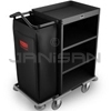 "Rubbermaid 9T61 Deluxe Compact Metal Housekeeping Cart - 49"" L x 22"" W x 50"" H - Black"