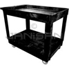 "Rubbermaid 9T67 2 Shelf Utility Cart, 4"" Casters - 40"" L x 24"" W x 31.25"" H - 300 lb capacity"