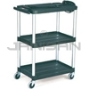 "Rubbermaid 9T30 Audio-Visual Cart, Open Cart with 3 Shelves, 4"" dia Casters - 32.5"" L x 18.63"" W x 42.38"" H - 200 lb capacity - 24"" Max TV Size"