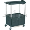 "Rubbermaid 9T32 Audio-Visual Cart, 3 Shelves with Cabinet, 4"" dia Casters - 32.5"" L x 18.63"" W x 42.38"" H - 200 lb capacity - 24"" Max TV Size"