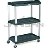 "Rubbermaid 9T33 Audio-Visual Cart, Open Cart with 3 Shelves, 4"" dia Casters - 36.5"" L x 20"" W x 48.13"" H - 300 lb capacity - 32"" Max TV Size"