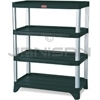"Rubbermaid 9T36 Shelving, 4-Shelf Unit - 35.13"" L x 20"" W x 45.88"" H - 800 lb capacity"