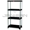 "Rubbermaid 9T38 Shelving, 4-Shelf Unit - 35.13"" L x 20"" W x 71.38"" H - 800 lb capacity"