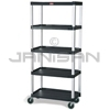 "Rubbermaid 9T42 Mobile Shelf Truck, 5-Shelf Mobile Truck with 5"" dia Casters, 2 with Locks - 35.13"" L x 20"" W x 62.38"" H - 800 lb capacity"