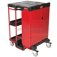 "Rubbermaid 9T58 Ladder Cart with Cabinet - 31.5"" L x 27\"" W x 42\"" H"
