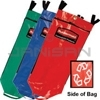 Rubbermaid 9T93-01 Recycling Bag with Universal Recycling Symbol - Set of 3 Colors (Red, Green, Blue)