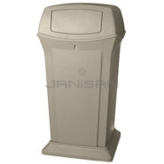 "Rubbermaid FG917500BEIG 65 Gallon Ranger Container with 2 Doors - 24.88"" Sq. x 49.25\"" H - Beige in Color"