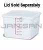 "Rubbermaid 9F07 Space Saving Square Container - 11.31"" L x 10.5"" W x 7.75"" H - 12 Qt. Capacity - White"