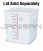 "Rubbermaid 9F08 Space Saving Square Container - 11.31"" L x 10.5"" W x 11.94"" H - 18 Qt. Capacity - White"