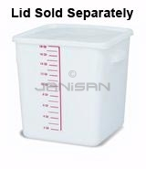 "Rubbermaid 9F08 Space Saving Square Container - 11.31"" L x 10.5\"" W x 11.94\"" H - 18 Qt. Capacity - White"