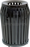 "Rubbermaid MSD36 Side Door Americana Series Trash Can - 36 Gallon Capacity - 25"" Dia. x 32.5"" H - Disposal Opening is 11"" Dia."