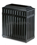 "Rubbermaid MHR36 Avenue Series Rectangular Open Top Trash Can - 36 Gallon Capacity - 16"" W x 29.5"" L  x 32.5"" H - Disposal Opening is 21.5"" L x 8"" W"