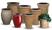 Rubbermaid / United Receptacle Milan Collection Trash Cans & Planters