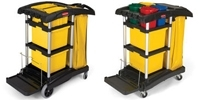 Rubbermaid Microfiber Cleaning Carts
