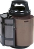 "Rubbermaid FGA38SDBKPL Covered Top Side Door Trash Can with Keyed Cam Lock - 38 Gallon Capacity - 24"" Dia. x 43"" H - Disposal Opening is 6"" H x 14.5"" W - Black/Anthracite in Color"