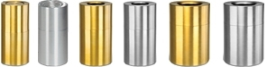 Rubbermaid Atrium Aluminum & Brass Trash Containers
