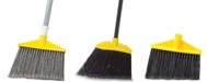 Rubbermaid Angle Brooms with Angled Flagged Polypropylene Bristles