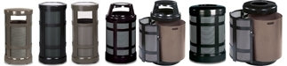 Rubbermaid / United Receptacle Architek Series Garbage Cans, Waste Receptacles, Trash Containers & Sand Urns