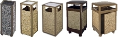 Rubbermaid / United Receptacle Aspen Series Garbage Cans, Trash Containers, Waste Receptacles & Sand Urns