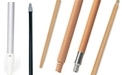 Rubbermaid Broom Handles - Threaded - Tapered - Wood - Aluminum - Metal