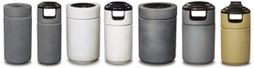 Rubbermaid / United Receptacle Cornerstone Fiberglass Garbage Cans, Trash Containers, Waste Receptacles & Sand Urns