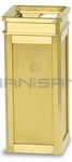 "DS12SUT-SBS Designer Line Accent Ash/Trash Can - Satin Brass - 12"" Sq. x 27"" H"
