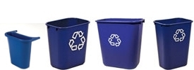 Rubbermaid Deskside Recycling Containers & Wastebaskets