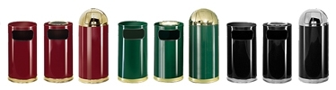 Rubbermaid / United Receptacle European Designer Line Garbage Cans, Trash Containers, Waste Receptacles & Sand Urns