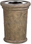 "Rubbermaid / United Receptacle FGFGK2836SUTPLBIS Milan Collection Portofino Fiberglass Ash/Trash Receptacle - 37 Gallon Capacity - 27 1/2"" Dia. x 36 1/4"" H - Bisque in color"