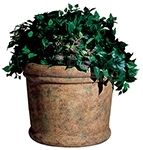 "Rubbermaid / United Receptacle FGFGPF2419SAH Milan Collection Fiberglass Planter - 24"" Dia. x 19"" H - Sahara in color"