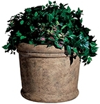 "Rubbermaid / United Receptacle FGFGPF3626BISQ Milan Collection Fiberglass Planter - 36"" Dia. x 26 1/2"" H - Bisque in color"