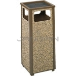 "Rubbermaid / United Receptacle R12SU Aspen Series Sand Urn Litter Receptacle - 12 Gallon Capacity - 13 1/2"" Sq. x 32"" H"