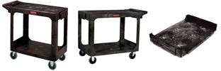 Rubbermaid Flat Shelf Carts