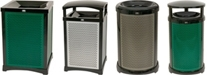 Rubbermaid Infinity Decorative Waste Cans, Trash Receptacles, Garbage Cans & Containers