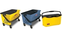 Microfiber Press Wring, Finish & Charging Buckets
